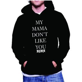 Blusa De Frio Moletom Canguru Justin Bieber My Mama + Brinde