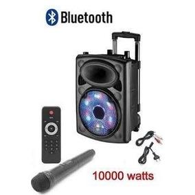 Caixa Som Amplificada 1000w Bluetooth Microfo S/ Fio Bateria