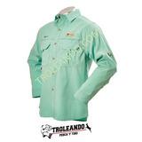 Camisas De Pesca Con Protector Solar Fps 50+ Color Aqua