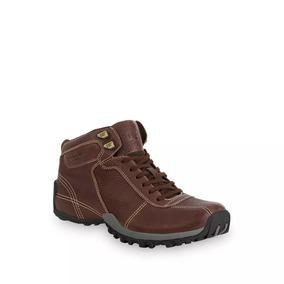 Zapatos Caterpillar Para Hombre Café De Piel Botas