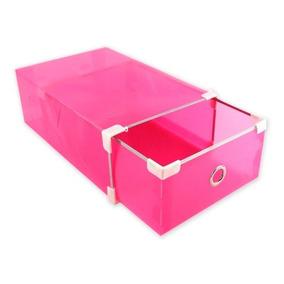 10 Cajas Organizadoras Rosado Para Zapatos Muebles / Rebajas