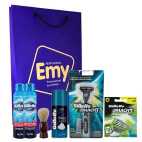 Kit Gillette Homem Barba Aparelho Espuma Desodorante Lamina