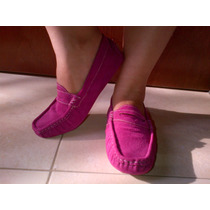 Bellos Zapatos Para Dama Mocasines Marca Chelo Piel Y Gamuza