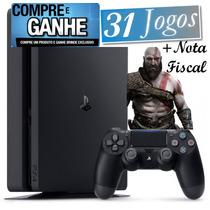 Playstation 4 Ps4 500gb Sony 2015a +nota +31 Jogos Grátis