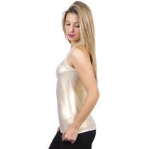 Blusa Feminina Regata Nadador Suplex Lorex Com Brilho