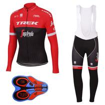 Uniforme Ciclismo Trek 2017 Jersey Manga Larga +pantalon Bib