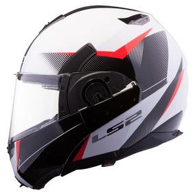 Casco Abatible Ls2 Ff393 Hawk Convert Blanco Rider One