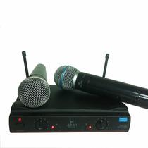 Microfone Duplo Uhf S/fio Profissional C/ Maleta -ku-22-a-11