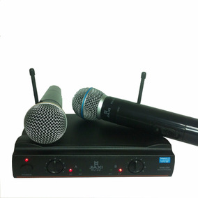 Microfone Duplo Padrão Shure Uhf S Fio Profissional Ku22 A11