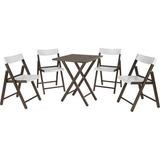 Conjunto Com 1 Mesa E 4 Cadeiras Madeira Taba - Tramontina