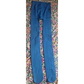 Medias O Pantys Térmicas Mujer Talle L-xl Azul