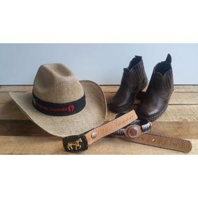 Conjunto Cinto Cowboy Infantil + Chapéu Juta Infantil Oferta