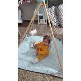 Gimnasio Para Bebés En Madera Nordico Montessori + Alfombra