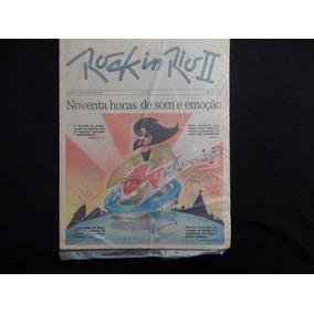 Jornal Rock In Rio - 18 De Janeiro De 1991