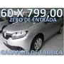 Renault Sandero Modelo Novo Zero De Entrada + 60 X 799,00