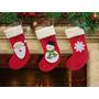 Botas Meias Natal Enfeite Papai Noel Kit 3 Unidades Feltro