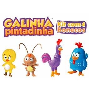 Bonecos Turma Da Galinha Pintadinha Brinquedo 4 Peças Cl29