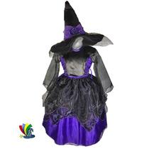 Disfraz Bruja Con Sombrero Halloween