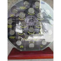 Cuadro Coleccionador De Monedas De 10, 20 Y 50 Nuevos Pesos
