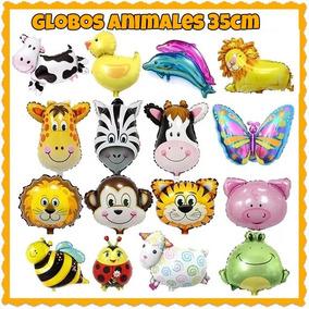 Globos Metalizados Animales De La Granja Y Selva 35 Cm