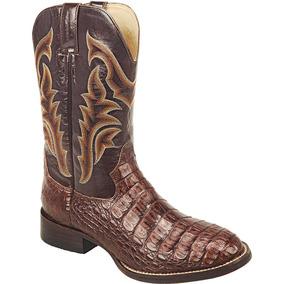 Bota Cowboy Masculina Texana Exótica Silverado Couro Jacaré