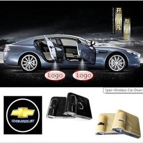 2 Luces Luz De Cortesia Auto A Pilas Puerta Logo Chevrolet