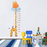 Adesivo Régua Do Crescimento Girafa - Direto Da Fábrica