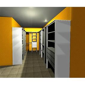 Interior Vestidor 2.00x2.00x3.00 Melamina Blanca 18mm.