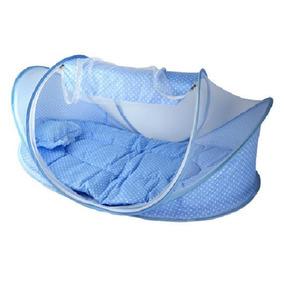 Berço Mosquiteiro Portátil Tenda Mosqueteiro Bebê Azul