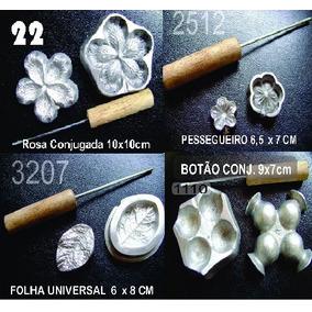 Kit Rosa Conj. + Pessegueiro + Folha Universal + Botão Conj.