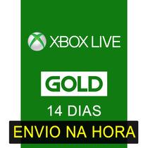 Xbox Live Gold Br Usa Cartão 14 Dias Brasil E Usa