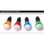 Foco Led A Pila Con Gancho Varios Colores - Ideal Luz Carpa