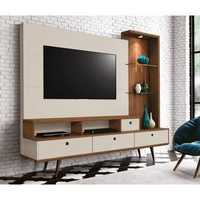 Home Tiffany Para Tv De 60com Pé Palito 3 Portas E Luz Led