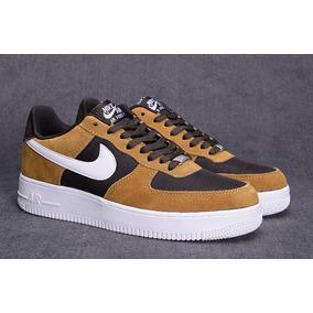 Zapatillas Nike Air Force 1 Tan White Velvet Brown 11.5 Usa