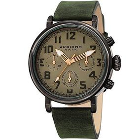 Akribos Xxiv Reloj De Hombre Ak1028gn Multifunction Gun &