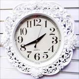 Reloj De Pared Rosas Antiguo Pasta Decorativo Diseño Hermoso