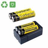 Cargador Pared + 4 Pilas Baterias Recargables 18650 Mah 6000