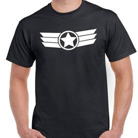 Remera Capitan America Algodon Peinada 24.1