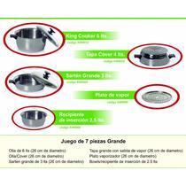 Ollas De Acero Quirurgico Kitchen Ware 6 De Piezas Grande