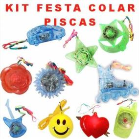 Kit Atacado 30 Colares Piscas Sortidos