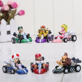 6 Carrinhos Mario Kart Fricção Super Promoção Frete Grátis