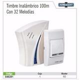 Timbre Inalambrico 220v 20 Melodias 100 Metros Rss