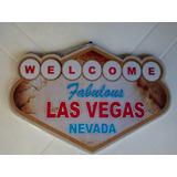Placa Decorativa Las Vegas Enfeite Quarto Cozinha Churrasco