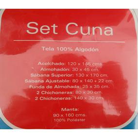 Set De Cuna Bebe (acolchado, Sabana,manta,chichonera)