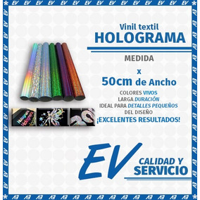 Vinil Textil Holograma Strech, Burbuja-espectr (1m Por 50cm)
