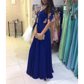 Vestido De Festa Azul Royal /formatura/madrinha/casamento