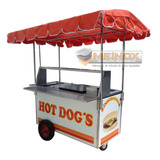 Carreta Para Hot Dogs Y Hamburguesas Carrito Carro Puesto