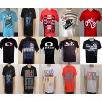 Kit C/ 5 Camisetas Hollister - Oakley - Quiksilver Confira