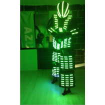 Traje Iluminado Tb 15 Robot Led Zancos