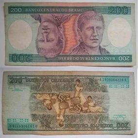 Cedula Nota 200 Cruzeiros Original Dinheiro Princesa Isabel